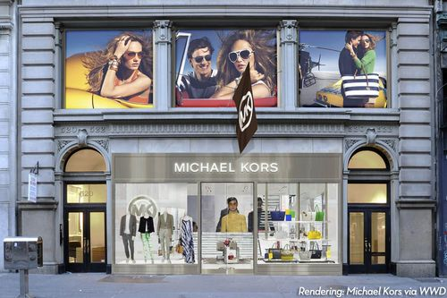 Flagship flash michael kors adds menswear to his biggest for Michael kors rockefeller center